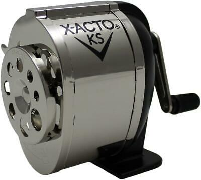 Wall Mount Manual Pencil Sharpener Dual Helical Cutters W Precision Silverblack