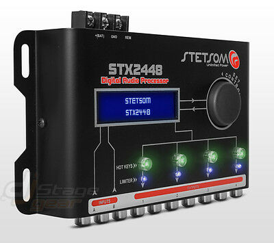 Stetsom STX2448 DSP Car Audio 4 Channel Full Digital Sound Signal Processor