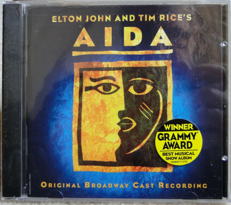 Aida - Elton John & Tim Rice; 2000 CD, Orig. BROADWAY Cast Recording; BRAND NEW