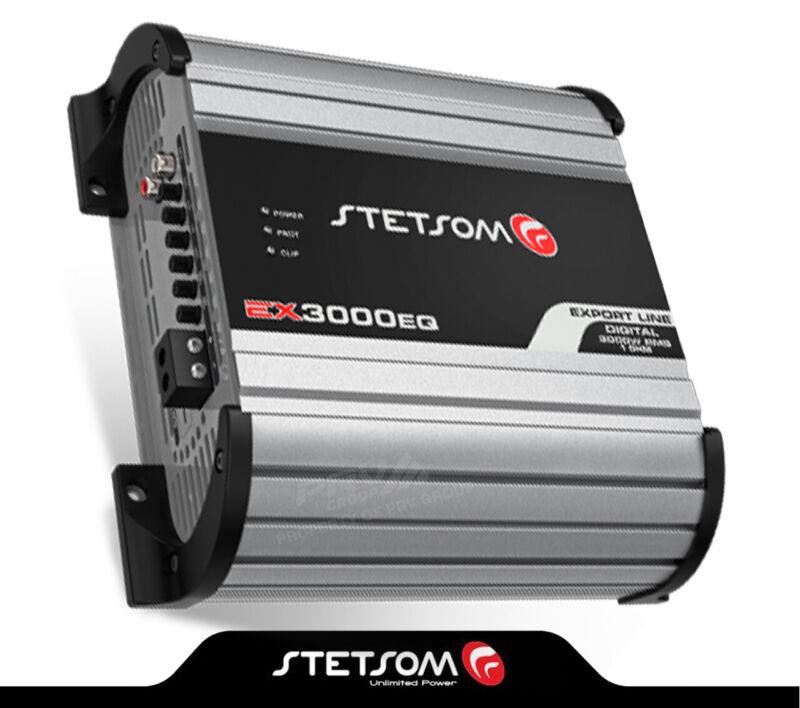 Stetsom EX3000 EQ - 1 Ohm Car Audio compact Amp 3000 Watts + FREE Sticker