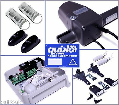QUIKO NEO AUTOMATIC REMOTE ELECTRIC GATE OPENER KIT DUAL RAMS - 2 REMOTES.!