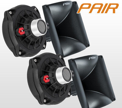Pair Prv Audio D250ph S 1  Phenolic Compression Driver Wg17 25 Horn Combo D250