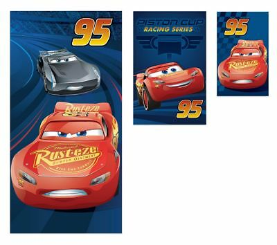 Disney Cars Lightning Mcqueen Bathroom - Disney Cars Lightning Mcqueen 3 Piece Beach Travel Bath Towels Set 100% Cotton