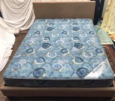 Excellent fabric metal frame Queen Bed Set. Delivery available