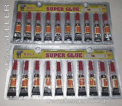 Super Glue - 'Cyanoacrylate Adhesive' 20 Tiny Tubes