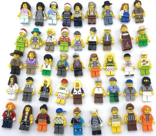LEGO 10 NEW LEGO MINIFIGURES TOWN CITY SERIES BOY GIRL TOWN PEOPLE SET
