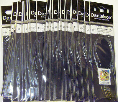Danielson Snelled Baitholder Hooks Bronze 24 pks Size 6  Wholesale Fishing Lot