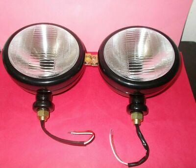 Ford Tractor Head Light Set Lh Rh - 12 V Black