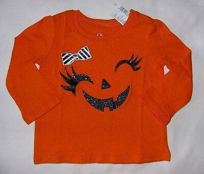 TCP BABY GIRL HALLOWEEN PUMPKIN FACE ORANGE L/S COTTON TOP T SHIRT TEE 6-24M (Baby Face Halloween Pumpkin)
