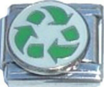 Italian Charm Recycle ReUse Reduce Green Earth Compost Earth Italian Charm