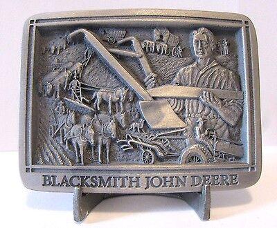 1999 John Deere Blacksmith A Tractor Plow Belt Buckle Limited Ed Hinton 1st Ser