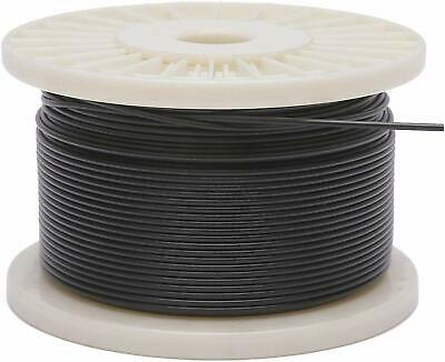 Vinyl Coated Stainless Steel 304 Cable Wire Rope 7x7 Black 364 - 116