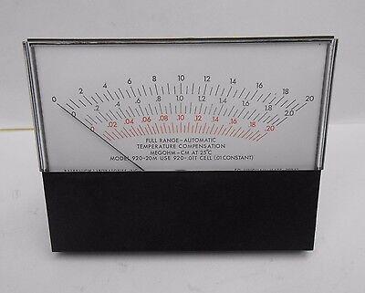 Balsbaugh Modutec 920-20m Full Range Automatic Temperature Compensation Meter