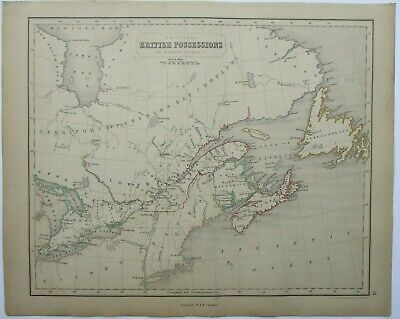 Antique Map of the British Empire in Canada  by William & Robert Chambers 1845