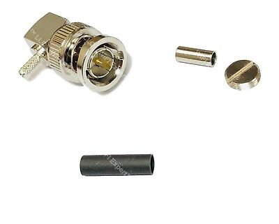 75oHM BNC Male Right ANGLE for RG316 RG174 RG179 LMR100 Cable Straight Connector 75 Ohm Right Angle
