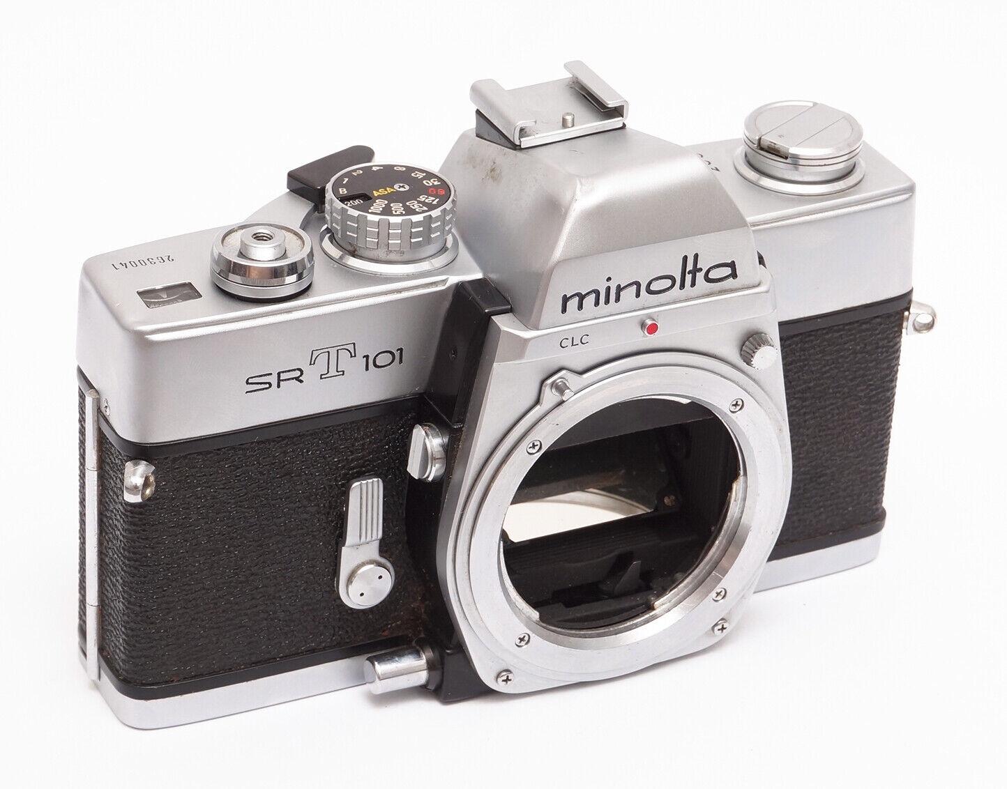 MINOLTA SRT101 SPIEGELREFLEX KAMERA MC SR MD MOUNT 35MM FILMKAMERA SRT 101