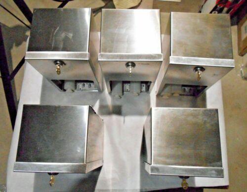 Lot of 5 Bradley #5402-000000 Commercial Toilet Paper 2 Roll Dispenser Locking