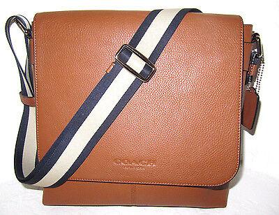 Coach F72108 Men's Sullivan Messenger Bag Saddle Leather New Authentic  NWT $375