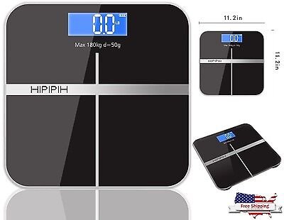 Family Body Scale Fat Smart Digital Bmi Muscle Bathroom Weighing Lcd 400Lb180kg