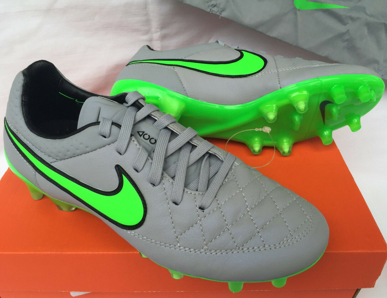 Nike Tiempo Legend V FG 631518-030 Wolf ACC Soccer Boots Cle