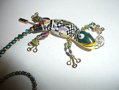 Jewelry 10 CYNTHIA CHUANG Gecko LARGE Stick Pin Brooch SIGNED RETAIL $250