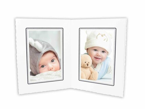 Cardboard Photo Folder For Double 4x6 Photo (Pack of 50) GS004 White Color