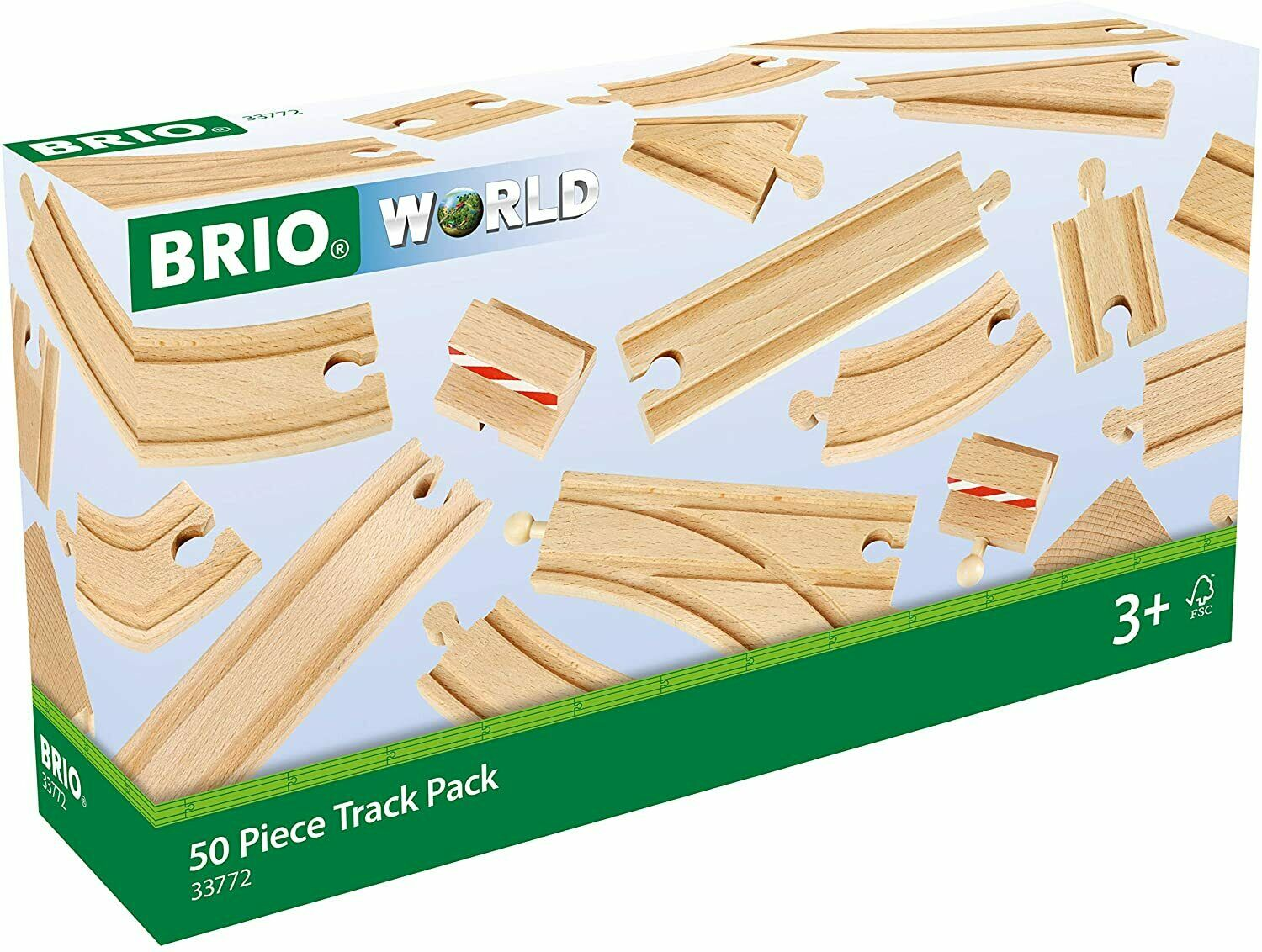 Brio 33772 50 Piece Track Pack 3+ NEW Large / Small Straight