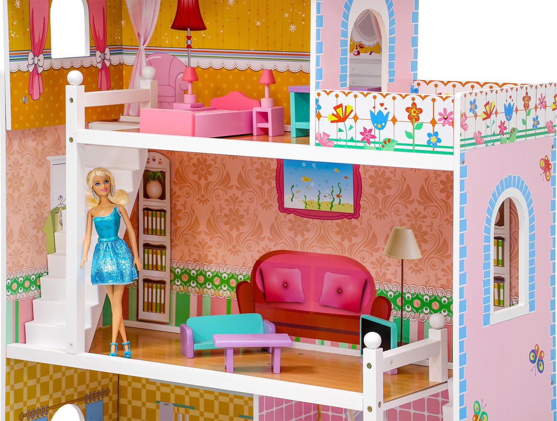 poup es maison de r ve coco adapte barbie etc 3 tages. Black Bedroom Furniture Sets. Home Design Ideas