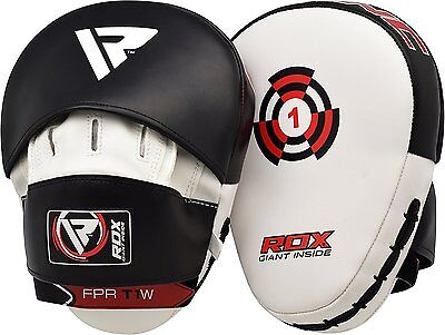 RDX Focus Pads Hook & Jab Mitts Kick Boxing MMA Strike Punching Kick Curved WBK
