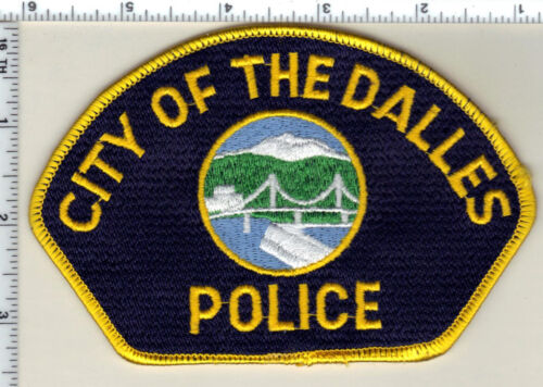 City of the Dalles Police (Oregon) Uniform Take-Off Shoulder Patch from 1989