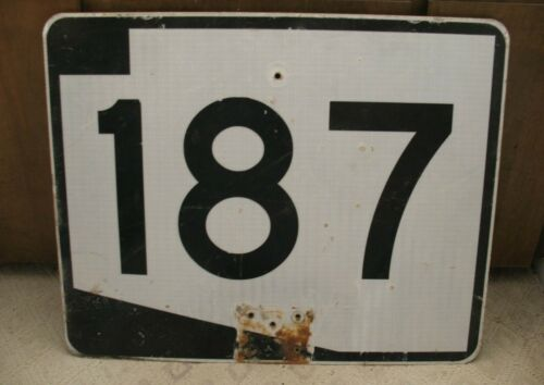 "B5 - ARIZONA STATE ROUTE 187 Real Road Street Sign, Measures 30"" x 24"""