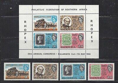 RHODESIA  (ZIMBABWE) - 237-240+240a S/S - MNH - 1966 - RHOPEX