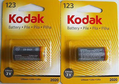 2 X 123 Cr123 Cr123a Sf123a Kodak 3-volt Lithium Battery