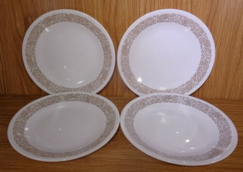 "Corelle 8 1/2"" WOODLAND Luncheon Plates Set of 4"