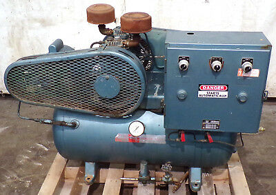 Buckeye Boiler Horizontal 2-stage Air Compressor 4131 30 Gallon 13hp 1ph
