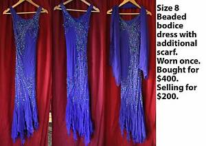 AS NEW Size 8 Beaded Bodice Dress, Deb Dress, Evening gown Officer Cardinia Area Preview