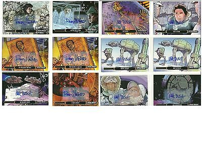Star Wars Illustrated: ESB: AUTOGRAPH BASE CARDS~ U-PICK -1-  (2015)