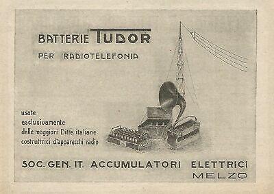 Acumuladores eléctricos Tudor Z0029 - Anuncio de 1926 - Publicidad