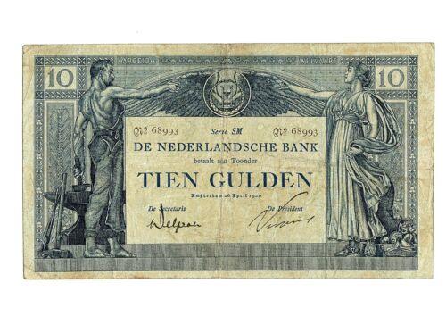 "Netherlands 10 Gulden banknote, P34, UNLISTED DATE ""26 APRIL 1920"""