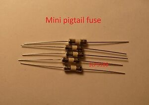 5pcs 1 Amp Ceramic Mini Pigtail Slow Blow Fuse 120v To