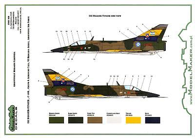 Model Maker Decals 1/48 DASSAULT MIRAGE III Argentine Air Force Farewell Schemes for sale  USA