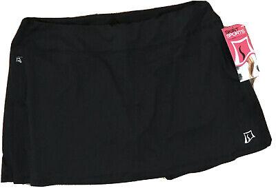 New! SKIRT SPORTS Women's XL Gym Girl Ultra Black Mini Skort -