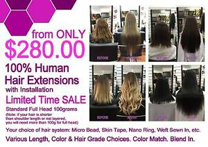 Unreal Human Hair Exctension Deal ! Full Head + Install from $280 Adelaide CBD Adelaide City Preview
