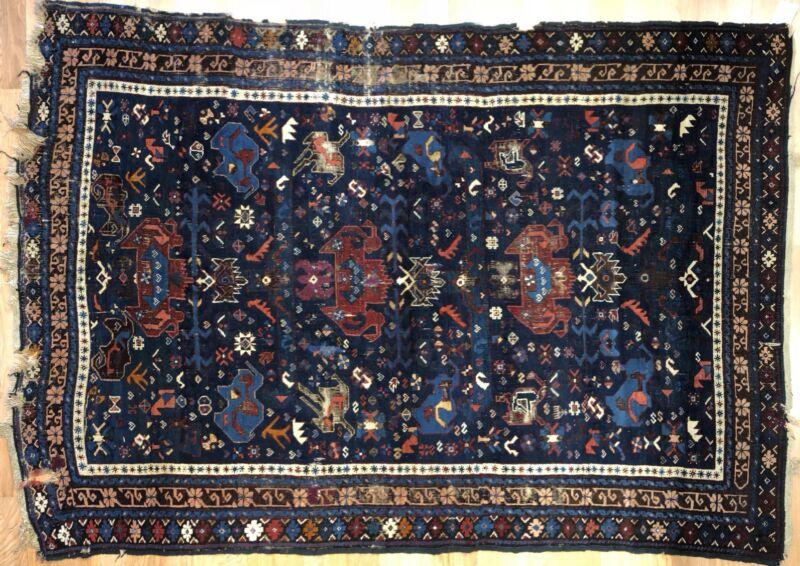 Classic Caucasian - 1940s Antique Kuba Rug - Tribal Oriental Carpet - 4.9 X 6.10