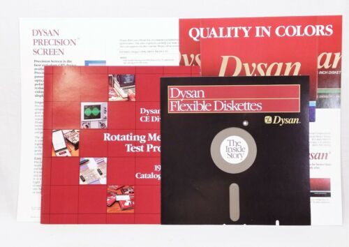 1984 Dysan Rotating Memory Test Products Catalog + Advertising Brochures