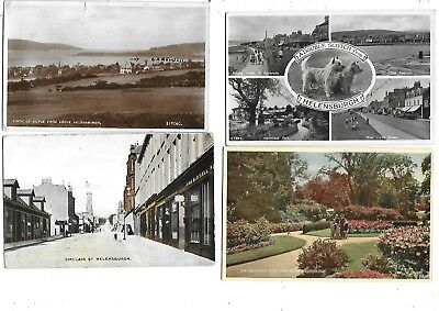 HELENSBURGH Postcard Lot 4  Multiview Sinclair Street Sun Dial etc