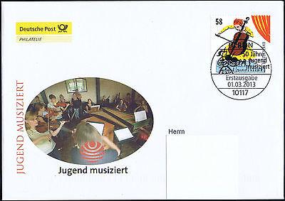 BRD 2013: Jugend musiziert! Post-FDC Nr. 2991 mit Berliner Sonderstempel! 1704