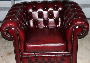 Exquisite Gascoigne Chesterfield Tub Chair - (Antique Ox Blood) Wurtulla Maroochydore Area Preview