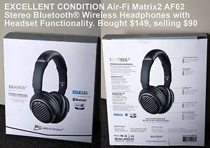 Meelectronics Air-Fi Matrix2 AF62 Bluetooth Wireless Headphones Officer Cardinia Area Preview