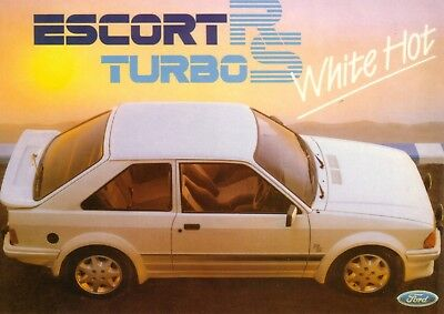 Ford Escort RS Turbo S1 1985 Car Jumbo Fridge Magnet